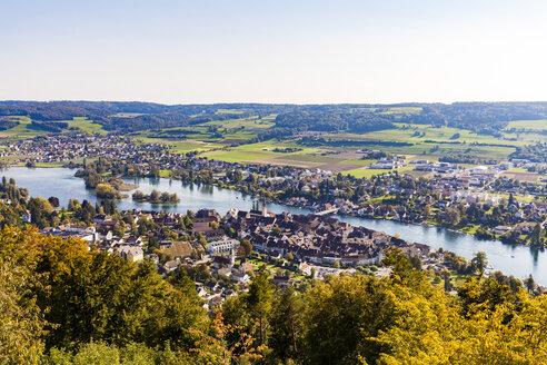Switzerland, Canton of Schaffhausen, Stein am Rhein, Lake Constance, Rhine river, cityscape - WDF04602