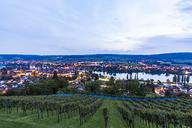 Switzerland, Canton of Schaffhausen, Stein am Rhein, Lake Constance, Rhine river, cityscape in the evening - WDF04611