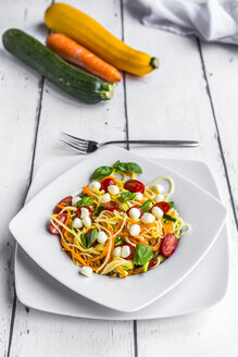 Zoodles with spaghettis, tomatoes and mini mozzarella cheese balls - SARF03684