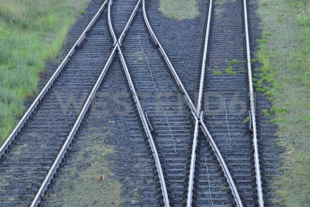 Germany, railway tracks - RUEF01869