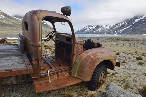 Greenland, East Greenland, US Airforce Base, Bluie East 2, rusty vehicle - ESF01608