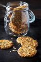 Granola cookies on dark ground - CSF29128