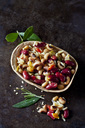 Greek bean salad in edible bowl - CSF29152