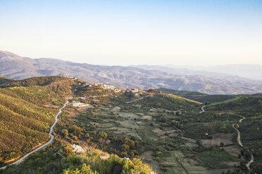 Greece, Peloponnese, Elis, Hills at sunset near Smerna and Zacharo - MAMF00091