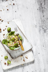 Quinoa salad with lamb's lettuce, cabbage, mini kiwi and hazelnuts - SBDF03562