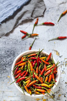 A bowl with chilis, Capsicum annuum - SBDF03582