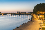France, Haute-Garonne, Toulouse, Garonne River with Pont Saint Pierre and promenade in the evening light - TAMF01069