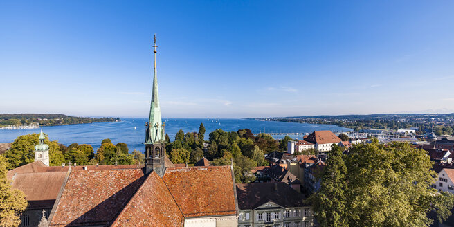 Germany, view to Lake Constance with spire of Constance Minster in the foreground - WDF04639
