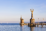 Germany, Constance, view to port entrance with lighthouse and Imperia - WDF04642