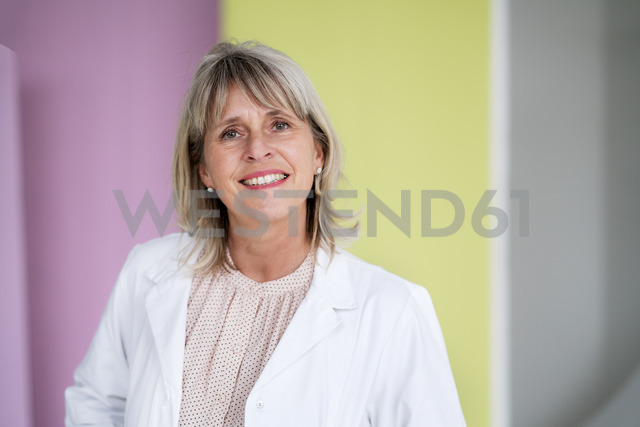 Portrait of smiling mature businesswoman - HHLMF00291
