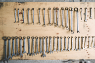 Assortment of screw wrenches in workshop - RAEF02005