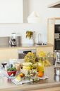 Empty kitchen with fresh fruit on kitchen counter - EBSF02416