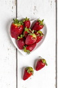 Strawberries in heart-shaped bowl - SARF03710