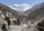 Nepal, Solo Khumbu, Everest, Mountaineers at Dingboche - ALRF01046