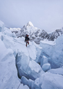 Nepal, Solo Khumbu, Mountaineers on Everest Icefall, Pumori - ALRF01070