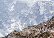 Nepal, Solo Khumbu, Everest, Maountaineers at Dhugla - ALRF01091