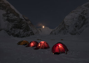 Nepal, Solo Khumbu, Everest, Western Cwm at night - ALRF01136