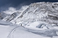 Nepal, Solo Khumbu, Everest, Mountaineer at Western Cwm - ALRF01139