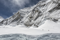 Nepal, Solo Khumbu, Everest, Mountaineers at Western Cwm - ALRF01145