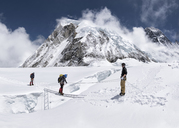 Nepal, Solo Khumbu, Everest, Mountaineers at Western Cwm - ALRF01151