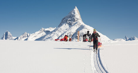 Greenland, Schweizerland Alps, Kulusuk, Tasiilaq, ski tourers - ALRF01218