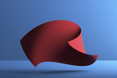 Abstract shape over blue background, 3D Rendering - DRBF00057
