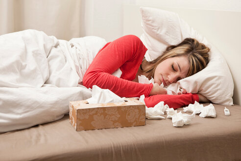 Woman with cold sleeping - CUF01493