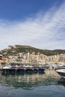 Principality of Monaco, Monaco, Monte Carlo, View from Port Hercule - ABOF00343