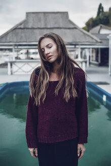 Woman by pool, Odessa, Odes'ka Oblast', Ukraine - CUF02047
