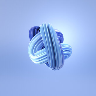 Abstract blue swirl, 3d rendering - AHUF00504