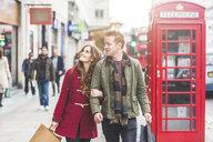 Couple on shopping spree, London, UK - CUF03724