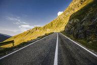 Rural mountain road, Draja, Vaslui, Romania - ISF00927