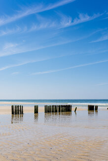 Germany, Schleswig-Holstein, Sylt, North Sea, breakwaters - EGBF00255