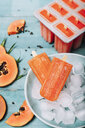Homemade papaya ice lollies - RTBF01273