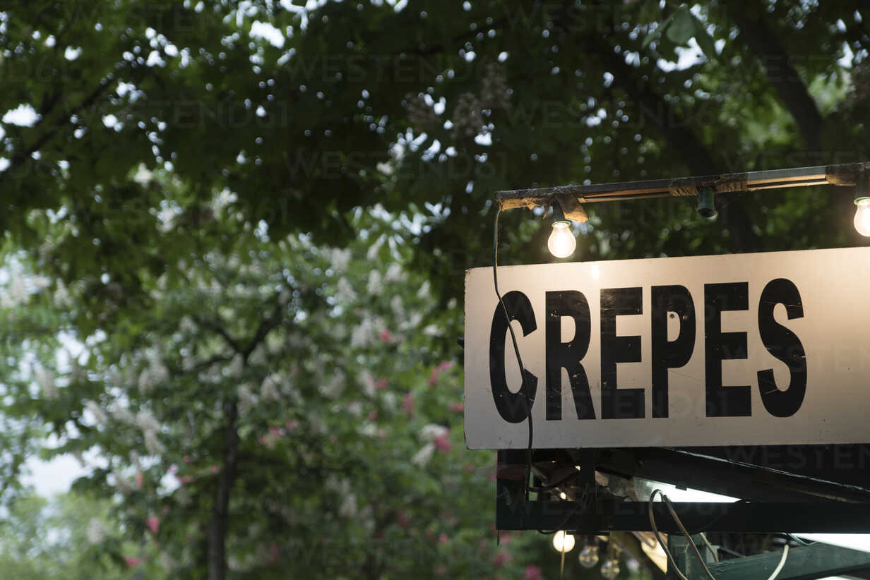 France, lighted sign 'Crepes' - CHPF00464 - Christophe Papke/Westend61