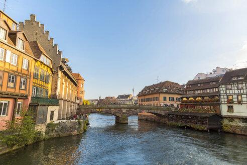 France, Alsace, Strasbourg, La Petite France in autumn - JUNF01040
