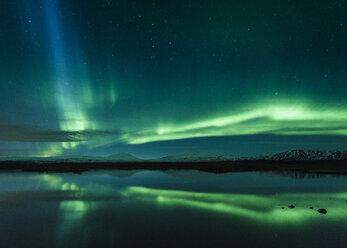 Aurora borealis, Thingvellir, Iceland - CUF07610