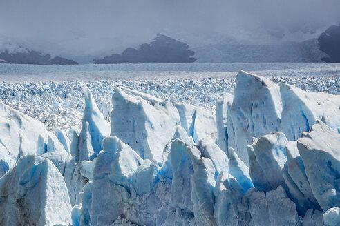 Storm clouds over Perito Moreno Glacier, Los Glaciares National Park, Patagonia, Chile - CUF08020