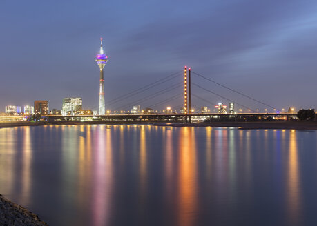 Rhine Tower, Oberkasseler Bridge, Düsseldorf, Germany - CUF08812