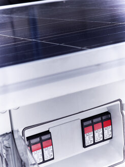 Fuse box of solar plant, close-up - CVF00531