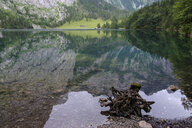 Germany, Bavaria, Berchtesgaden Alps, Lake Obersee, water reflection - HAMF00297