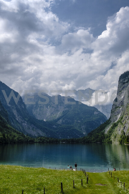 Germany, Bavaria, Berchtesgaden Alps, Obersee and Watzmann - HAMF00309