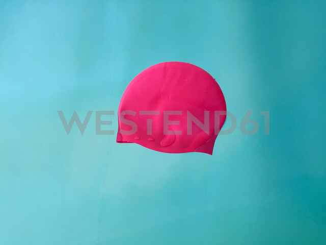 Swimming cap floating in pool - JTF01002