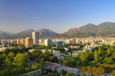 Albania, Tirana, City center, TID Tower and Namazgah Mosque - SIEF07766