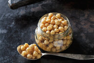 Glass of preserved chickpeas - CSF29187