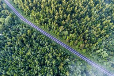 Germany, Baden-Wuerttemberg, Swabian Alb, Schurwald, empty country road in spring - STSF01567