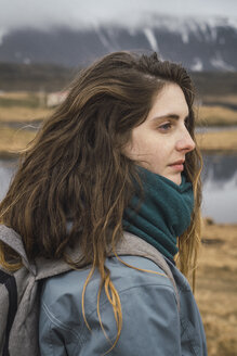 Iceland, portrait of young woman - KKAF01005