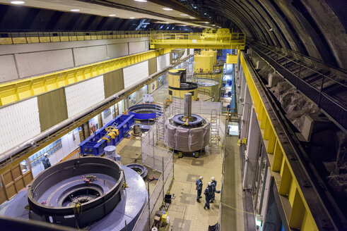 Overview of generator hall in hydroelectric power station - CUF17975