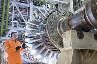 Gas turbine under repair in gas-fired power station - CUF18087