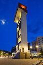 Albania, Korca, Red Tower at Theater Square - SIEF07781